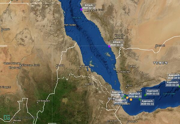Red Sea Security Events - 12 months