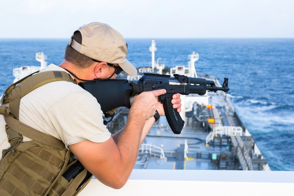 Armed Guard on Ship